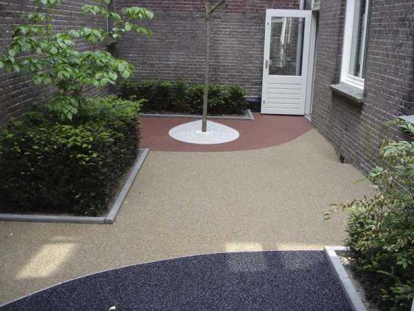 Alcorques piedra resinas - Pavimento jardin ...