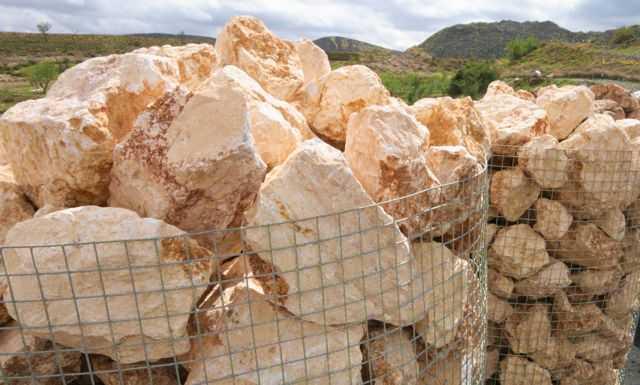 Roca amarilla saturno roca caliza amarillo saturno for Piedras grandes para jardin