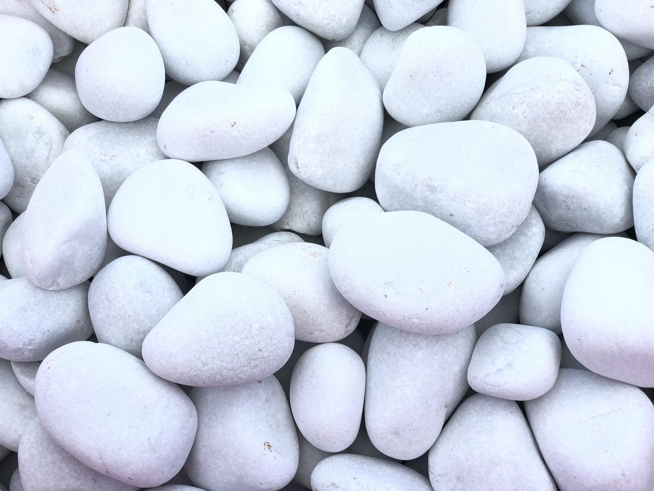 Galet Blanc Pur pour jardin, galet blanc decoratif, Galet roule blanc