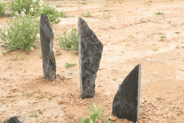 slate monoliths and menhirs