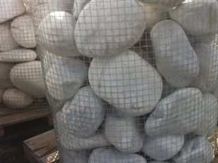 Decorative white big boulder