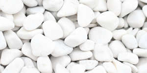 White pebbles, pebbles, white crushed stone