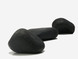 Pierres décoratives Galet Noir Poli