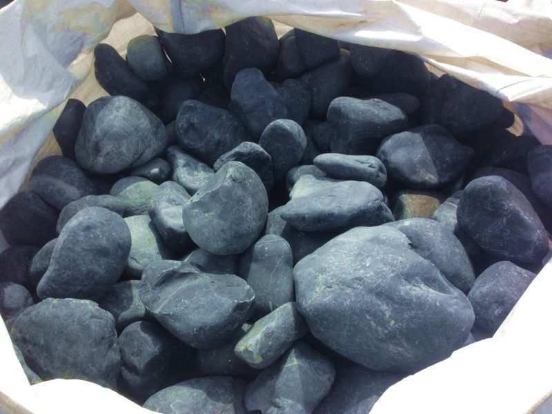 Galet noir, galet noir pour jardin, gravier noir, gravillon noir intense
