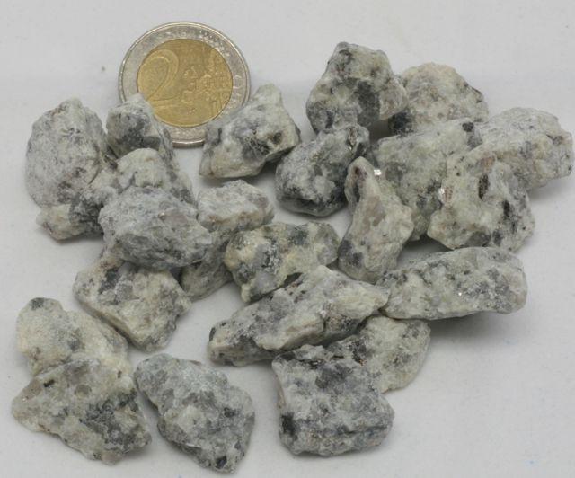 grava blanca de granito