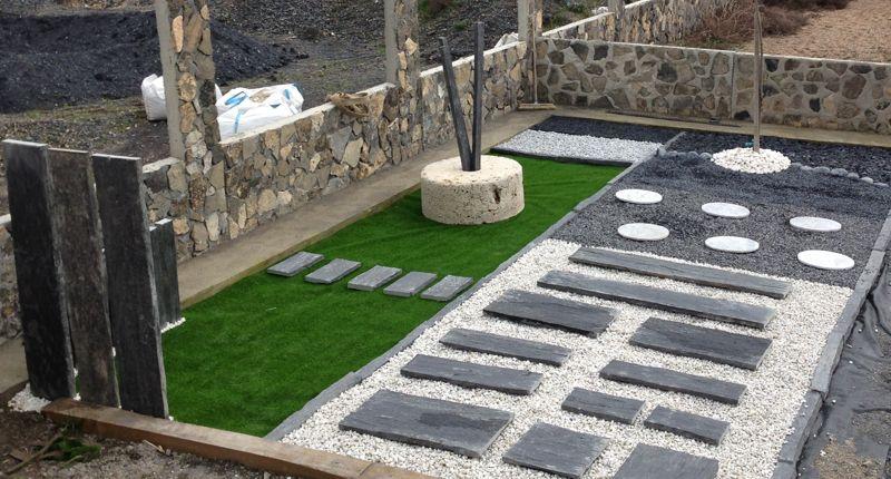 Pizarra para jardin japones losas placas y piquetas de pizarra