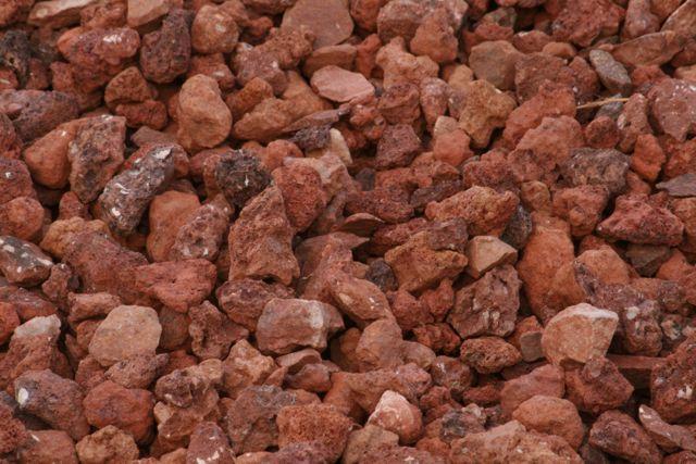 puzolana roja o roca volcanica