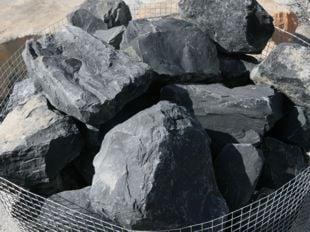 Black basalt volcanic crushed rock