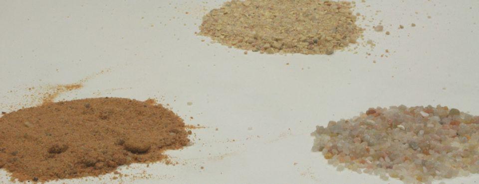 arenas silices, carbonatos, pizarra para enarenado de cultivos